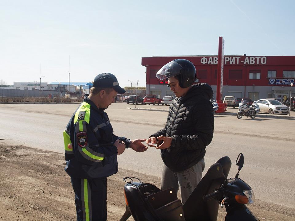 Проверка мотоциклистов