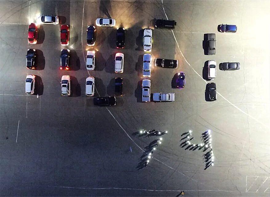 Автомобильный флэшмоб Челябинск Победа 74